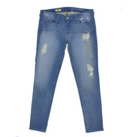 Sold Design Lab Womens Soho Medium Wash Destroyed Skinny Jeans