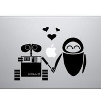 WALL-E Loves EVE - Macbook Laptop Decal Sticker - Graefiks
