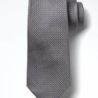 Textured Grid Silk Nanotex® Tie | Banana Republic