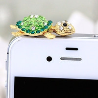 Cute Tortoise Dust Plug for iPhone 4 4s 5 5s = 1652217732