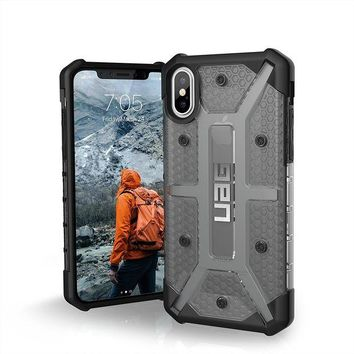 VONEIR6 UAG iPhone X Plasma Feather-Light Rugged [ASH] Military Drop Tested iPhone Case