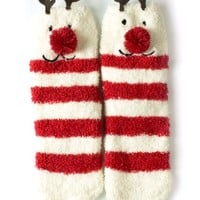 Red Bene Womens Christmas Fuzzy Socks
