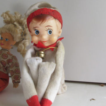 Knee Hugger Elf Vintage Christmas Elf Shelf sitting Elf Christmas Elves 1960s ELF Fireplace Mantle Decor Pixie Elf