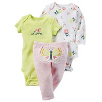 Baby Girl Carter's Floral Bodysuit & Butterfly Pants Set