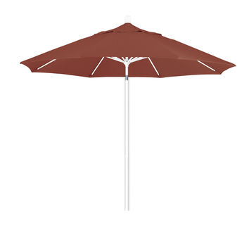9 Foot 5A Sunbrella Fabric Aluminum Pulley Lift Patio Patio Umbrella with White Pole
