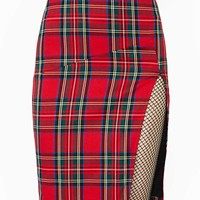 High Holidays Plaid Skirt