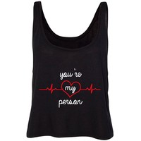 """Grey's Anatomy TV Show """"You're My Person"""" Cropped Tank Top"""