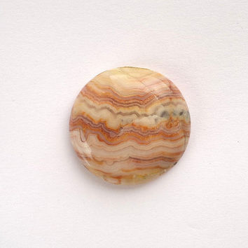 Crazy Lace Agate Cabochon 28mm Natural Color Cab Beige Brown Stone Round Shape Loose Agates Mineral Focal Stone Loose Gemstone Semiprecious