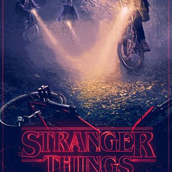 Stranger Things Poster // TV + Movie Alternative Poster // Retro Vintage Stranger Things Style Digital Painting Poster wall art // Gift Idea