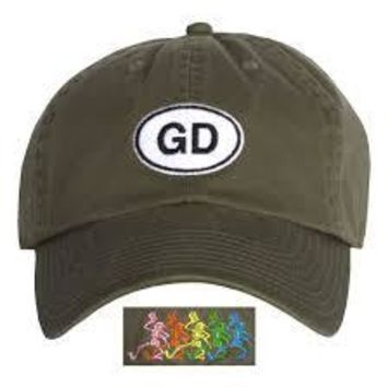 Grateful Dead GD Olive Green Baseball Hat Cap