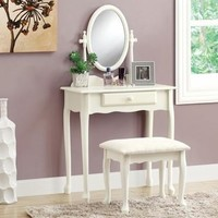 Antique White 2Pcs Vanity Set