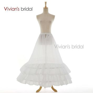 Bridal 2 Layers Underskirt Bridal Accessories Petticoat A-Line White