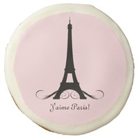 Personalized Eiffel Tower J'aime Paris! Sugar Cookie