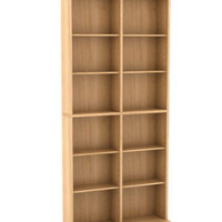 464-CD or 228-DVD Multi-Media Rack Storage Cabinet Living Room Furniture Maple