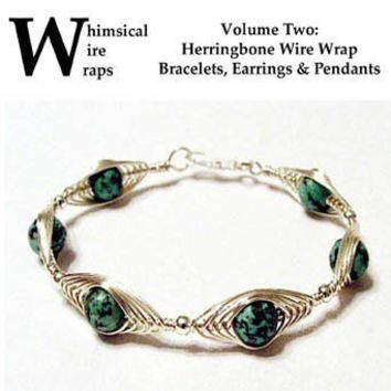 Herringbone Wire Wrap Wrapped Bracelet Pendant DVD Tutorial