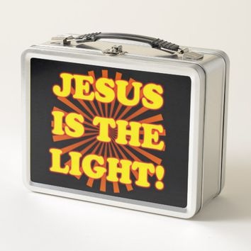 Jesus Is The Light! Metal Lunch Box