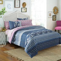 Free Spirit Indigo Floral Bed in a Bag Bedding Comforter Set - Walmart.com