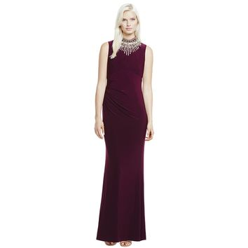 Vince Camuto Jewel Neck Gown