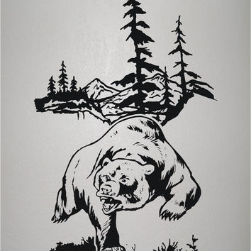 Bear hunting wall decals mural home decor vinyl stickers decorat