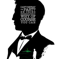 Jay Gatsby - Quote Silhouette Art Print by GTRichardson