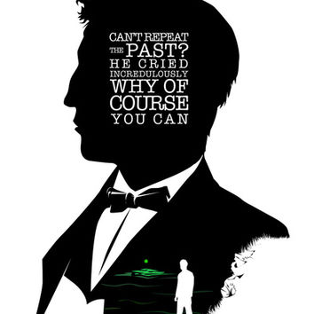 Jay Gatsby Quotes Jay Gatsby   Quote Silhouette Art Print from Society6 Jay Gatsby Quotes