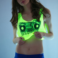 Neon Crop Tank Top Shirt...Follow me for more:)