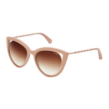 BL2517 Beige Cat Eye Sunglasses