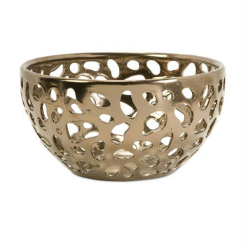 Decorative Bowl - Warm Gold Finish