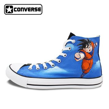 Dragon Ball Z Anime Converse All Stars Hand Painted Goku Vegeta Sneakers