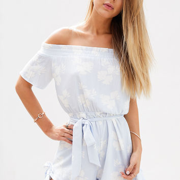 Buy Blue Hibiscus Playsuit Online by SABO SKIRT