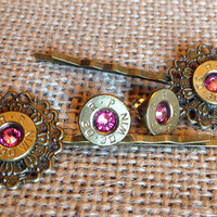 Bullet earrings and hairpin set