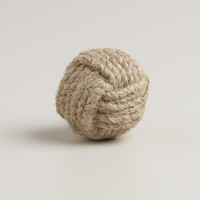 Round Ball Jute Knobs, Set of 2 - World Market