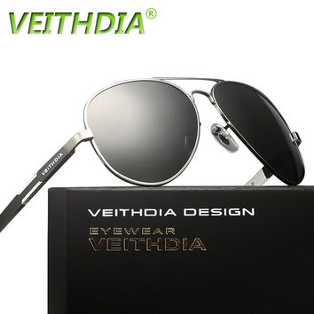 2017 HD Veithdia Men Brand Logo Driving Polarized Sunglasses Sun Glasses Aluminum Magnesium Alloy oculos de sol male 6695