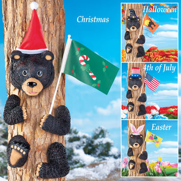 Four Season Black Bear Tree Decor