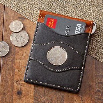 Personalized Leather Two-Toned Wallet Free Engraving