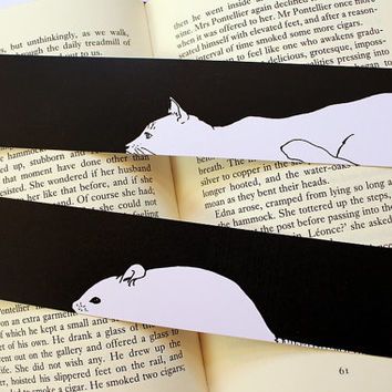 Black & White Animals Bookmark, 12 Animals Available