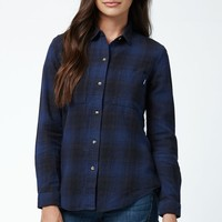 Vans Adolescence Flannel Button-Down Shirt - Womens Shirts - Black