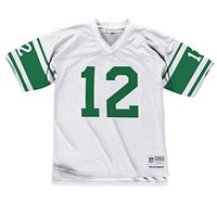 New York Jets Mitchell & Ness 1968 Joe Namath #12 White Replica Throwback Jersey