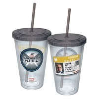Icup Marvel Comics: Agents of S.H.I.E.L.D. 16-oz. Tumbler (Straw)