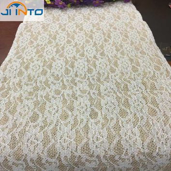 220cm*30cm Natural Jute Burlap Hessian Ribbon lace for Handicraft Vintage Wedding decoration tablecloth Rustic classic
