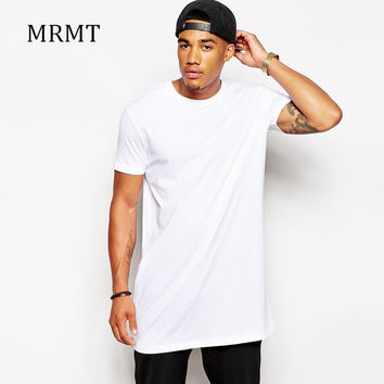 White Casual Men long t shirt Hip hop Brand Clothing StreetWear t-shirt Extra Long Length Tops Tee tshirt long line cloth