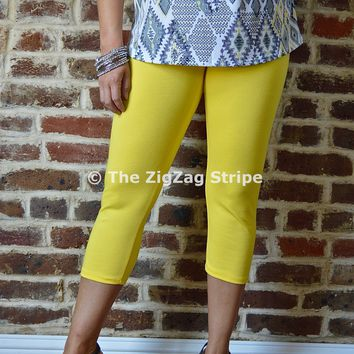Yellow Capri Skinnies