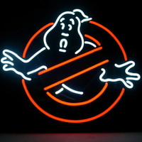 "New Ghostbusters Ghost Neon Sign Beer Bar Game Room Real Glass Neon Sign 24""x20"""