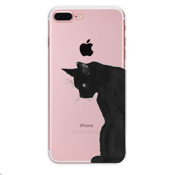 Apple and Cat iPhone 7 7Plus & iPhone se 5s 6 6 Plus Case Cover +Gift Box-90