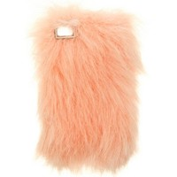 PEACH FURRY IPHONE 4/4S & 5 CASE. - TECH