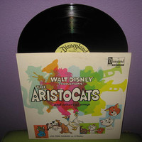 Vinyl Record Album Disney's The Aristocats LP 1970 Children's Animated Classics