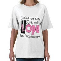 Breast Cancer HOPE 4 Tee Shirts from Zazzle.com