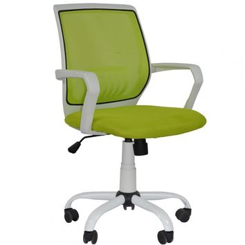 New Green Ergonomic Mesh Computer Office Desk Midback Task Chair Metal Base3127