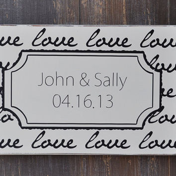 Custom Wood Wedding Sign, Personalized Engagement Gift,Wedding Gift, Engagement Present, Bridal Shower Gift, Anniversary Gift