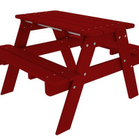 Kids' Picnic Table, Sunset Red, Portable Picnic Tables & Chairs